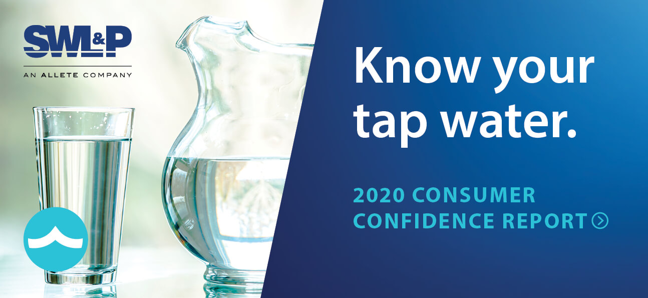 Know your tap water. 2020 Consumer Confidence Report.